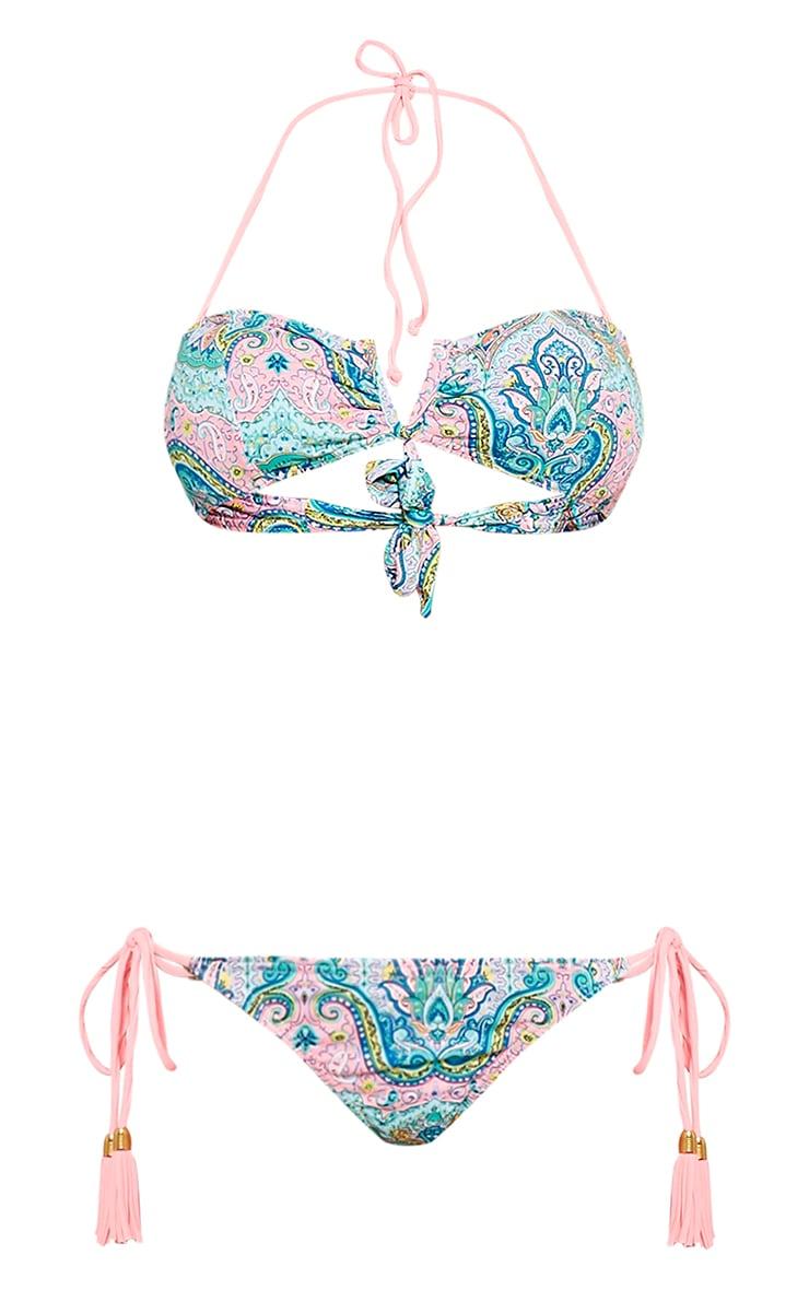 Alia Mint Paisley Print Bikini 3