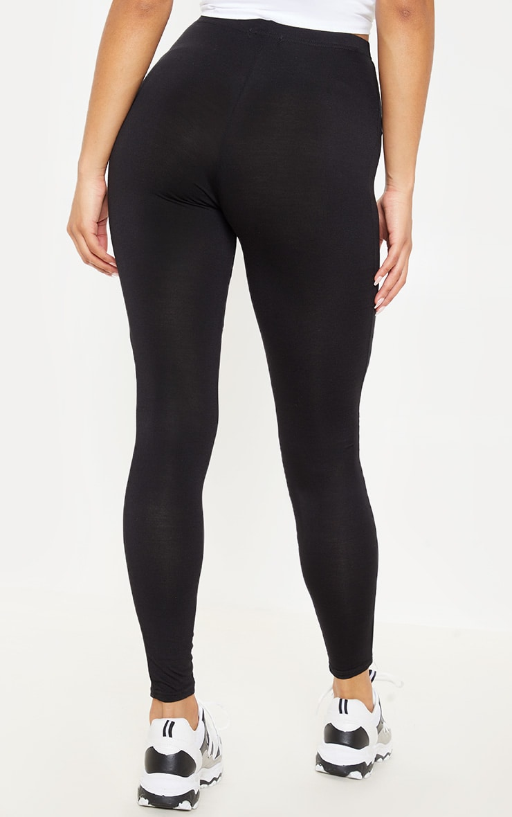 Basic Black Jersey Leggings 4