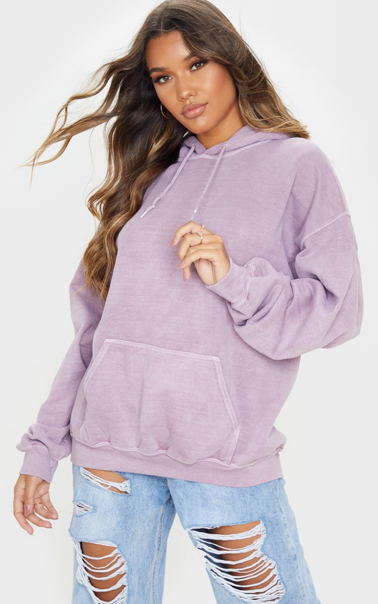 Dusty Lilac Washed Ultimate Oversized Hoodie 1
