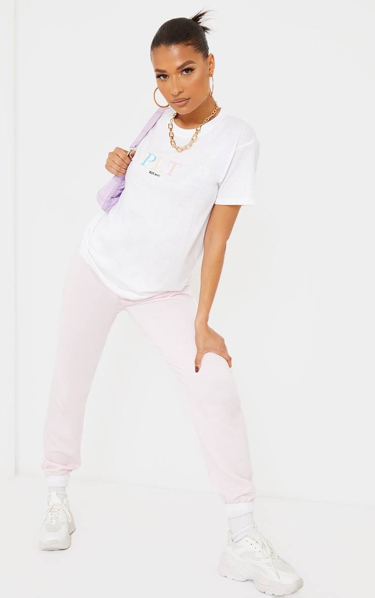 PRETTYLITTLETHING White Multi Embroidered T Shirt 3