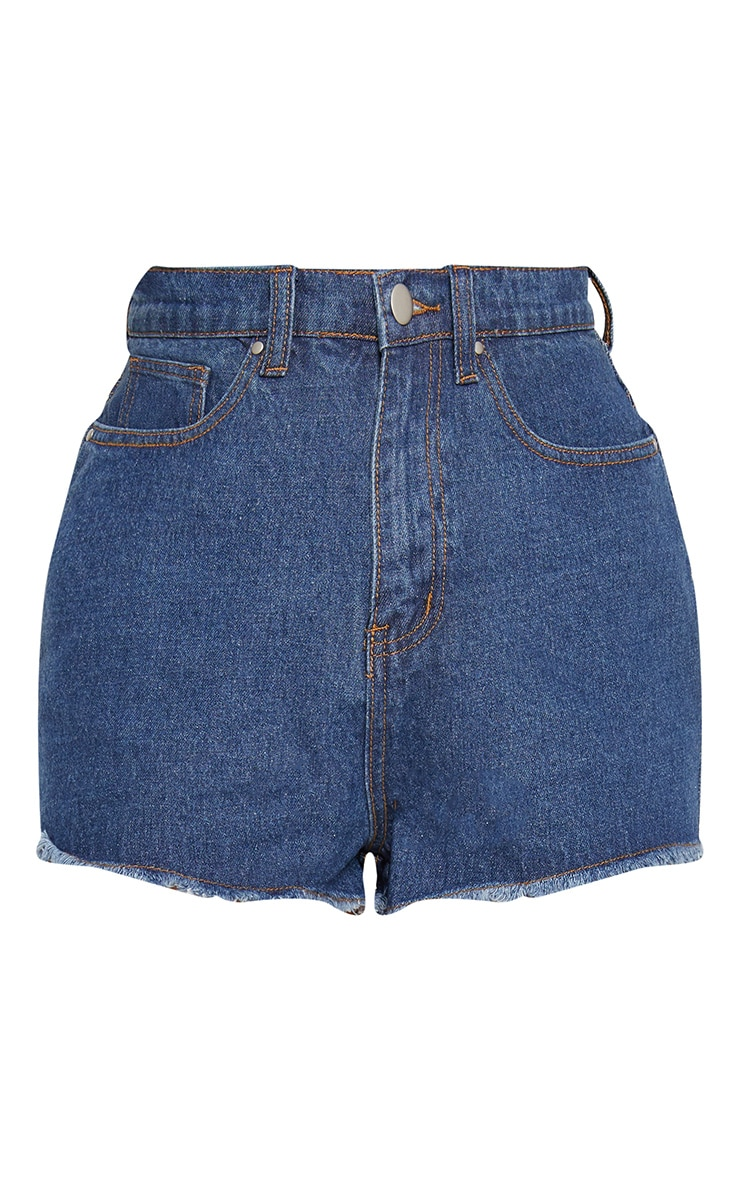 Bright Blue Shelby High Waisted Denim Short 4
