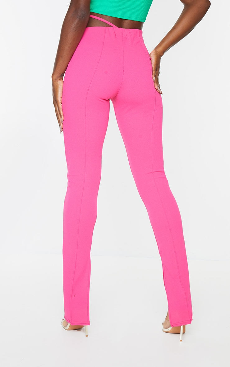 Hot Pink Cut Out Skinny Pants 3