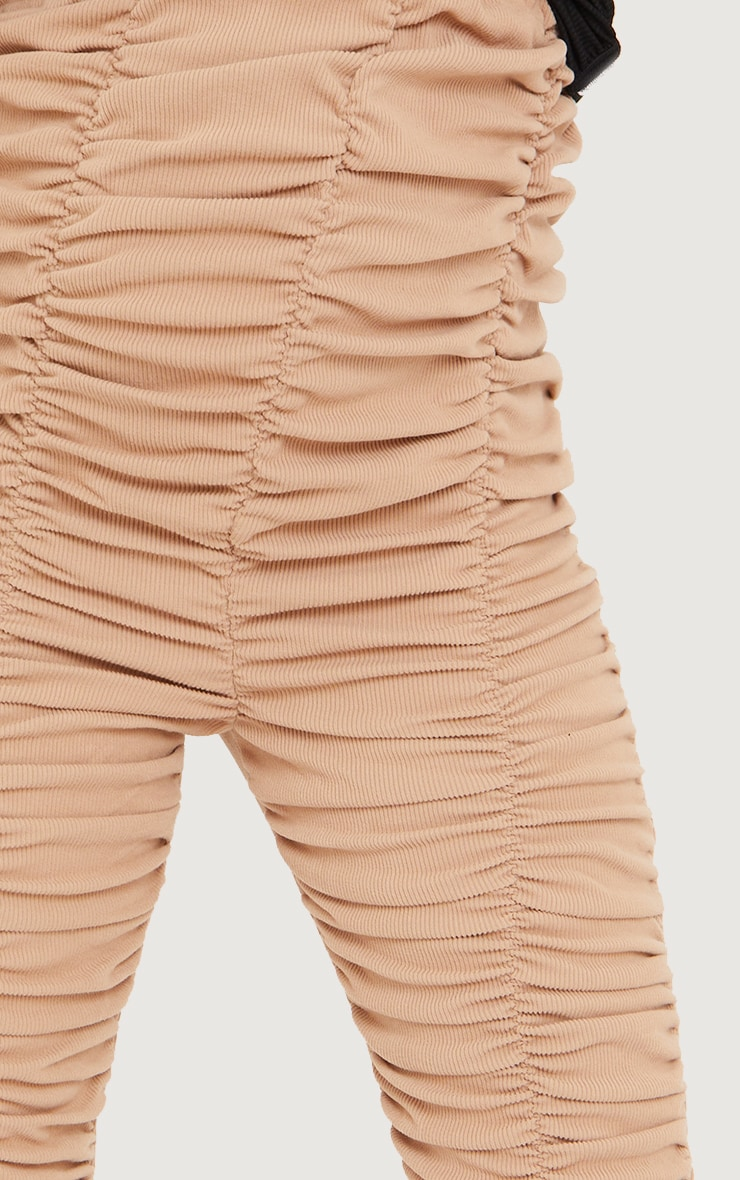 Maternity Stone Ribbed Ruched Over Bump Leggings 4