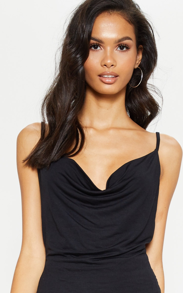 Black Jersey Cowl Neck Cami Top 5