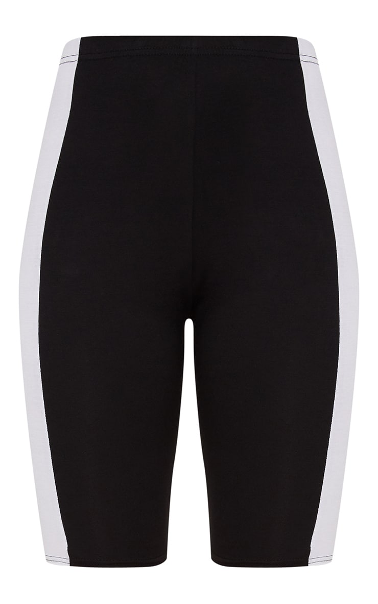 Black Contrast Panel Cycle Shorts 3