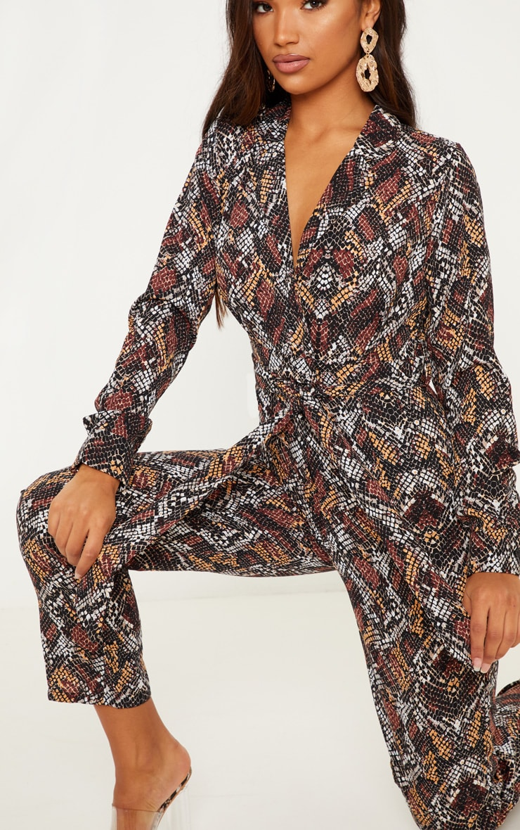 Chocolate Snake Print Jumpsuit 5