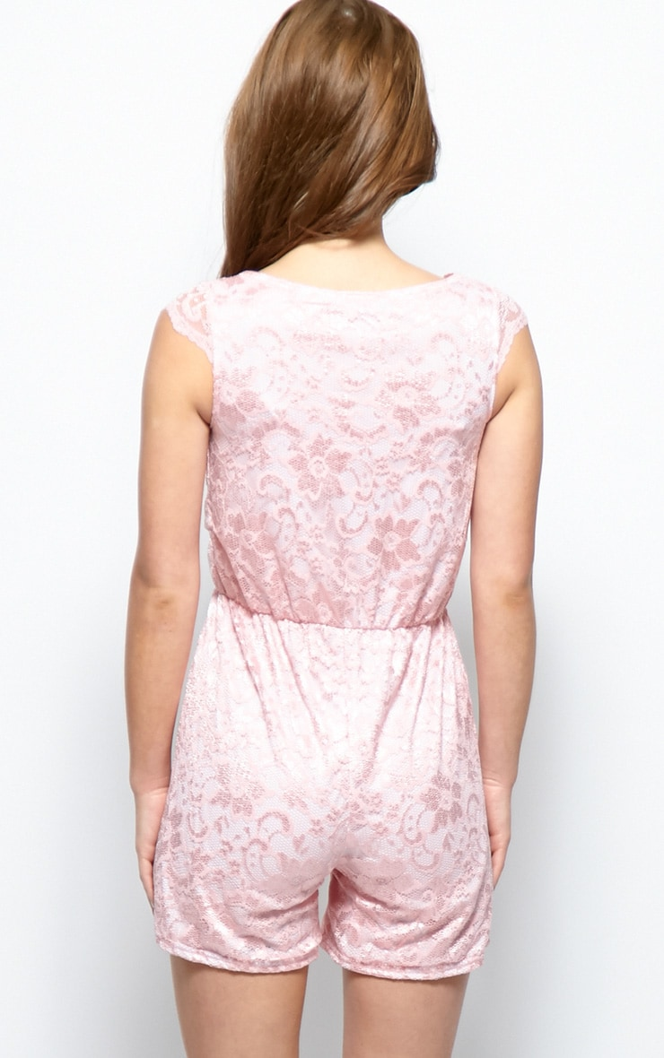 Leila Pink Lace Playsuit 2