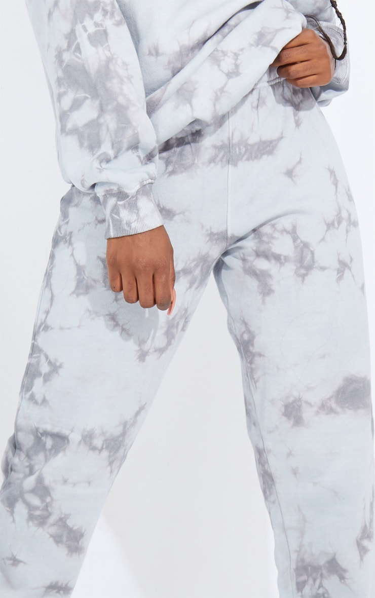 Tall Grey Oversized Tie Dye Joggers 4