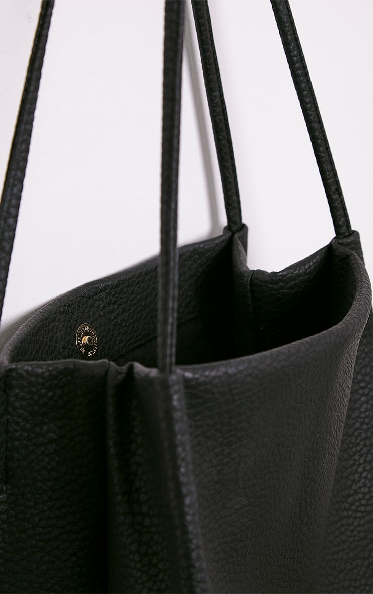 Arlene Black PU Shopper 5