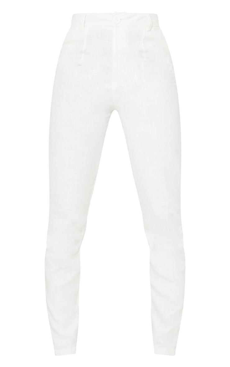 Tall - Pantalon évasé léger blanc 5