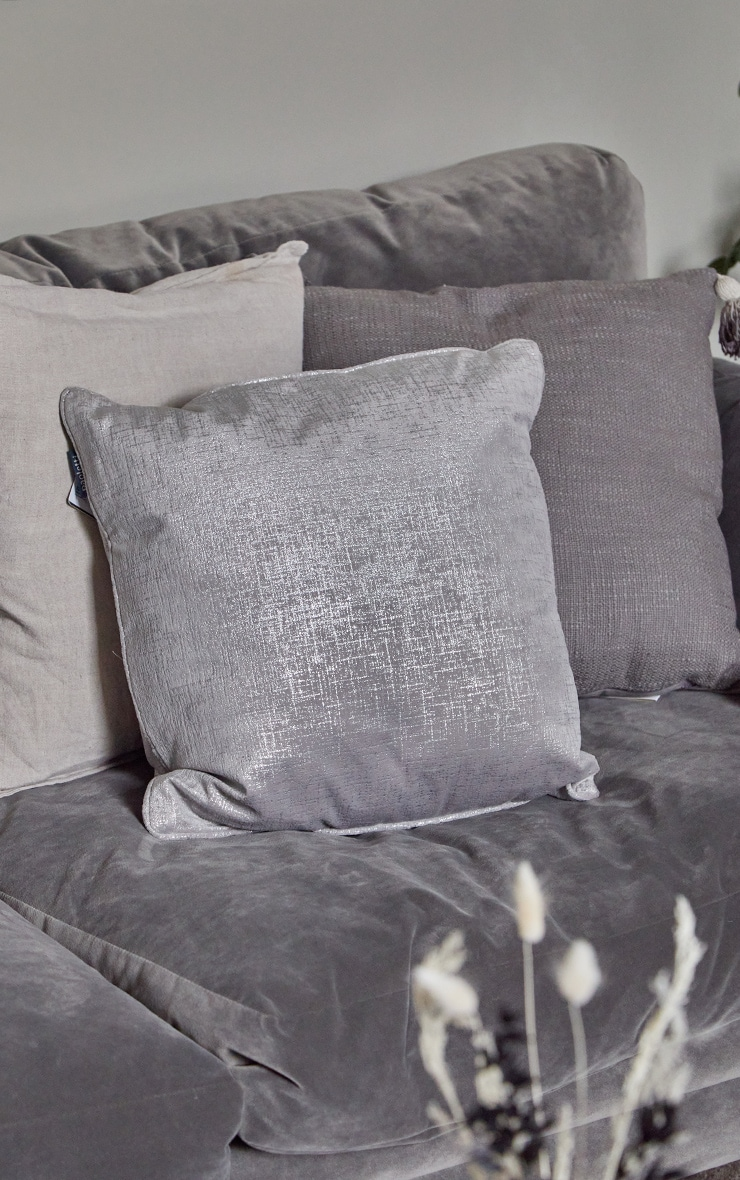 Silver Large Filled Cushion 2