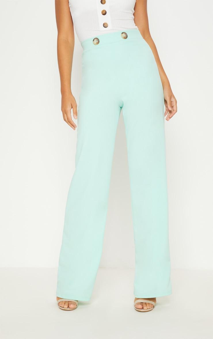 Mint Button Detail Wide Leg Trouser 2