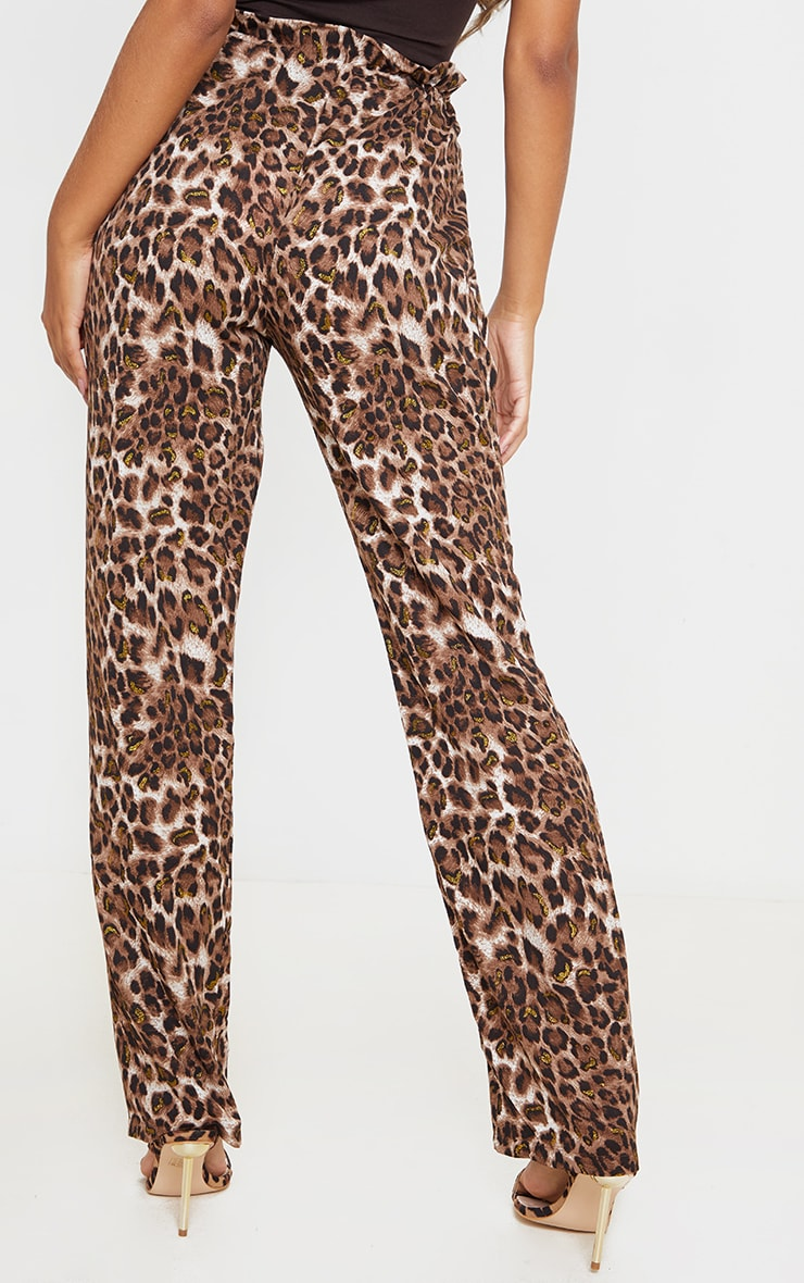 Tan Leopard Trousers 3