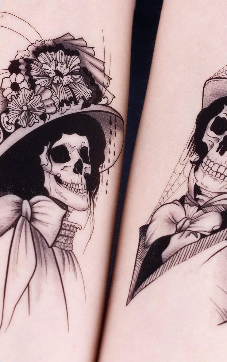 The Gypsy Shrine - Tatouage temporaire crânes Halloween 3