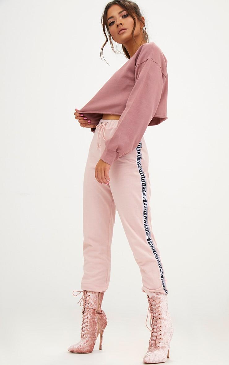 Petite Pink Cropped Sweater 4