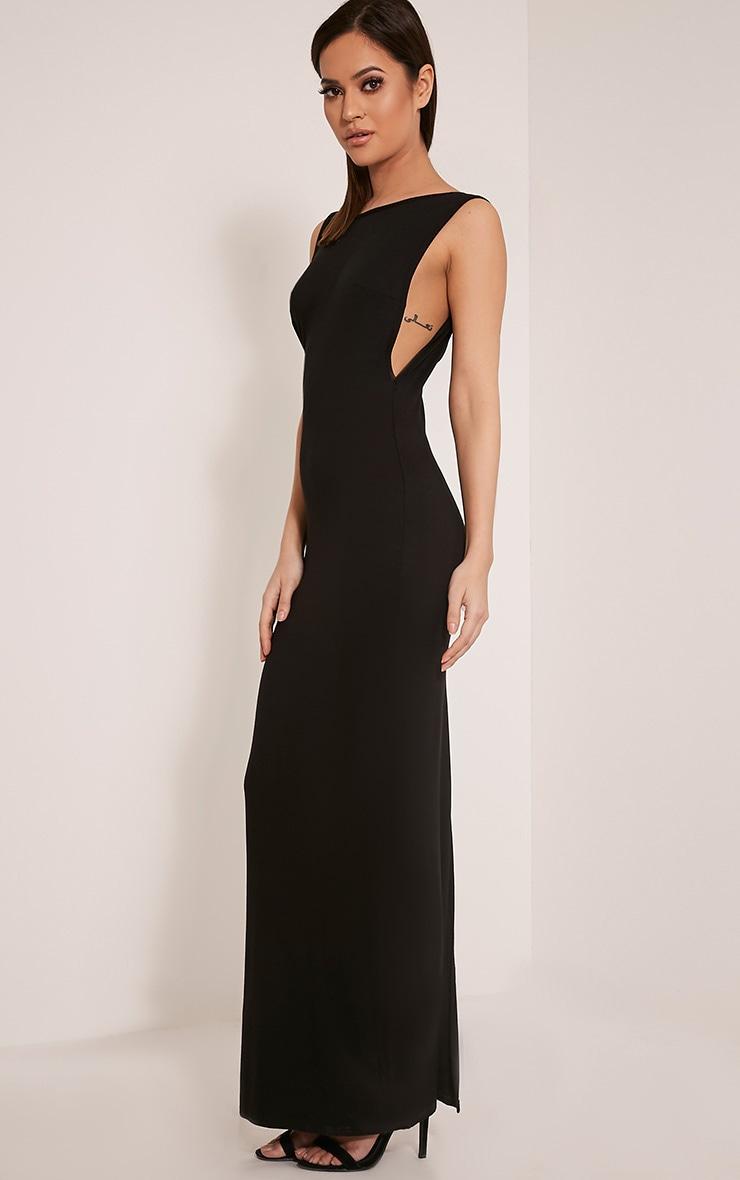 Basic robe maxi à emmanchures larges noire 4