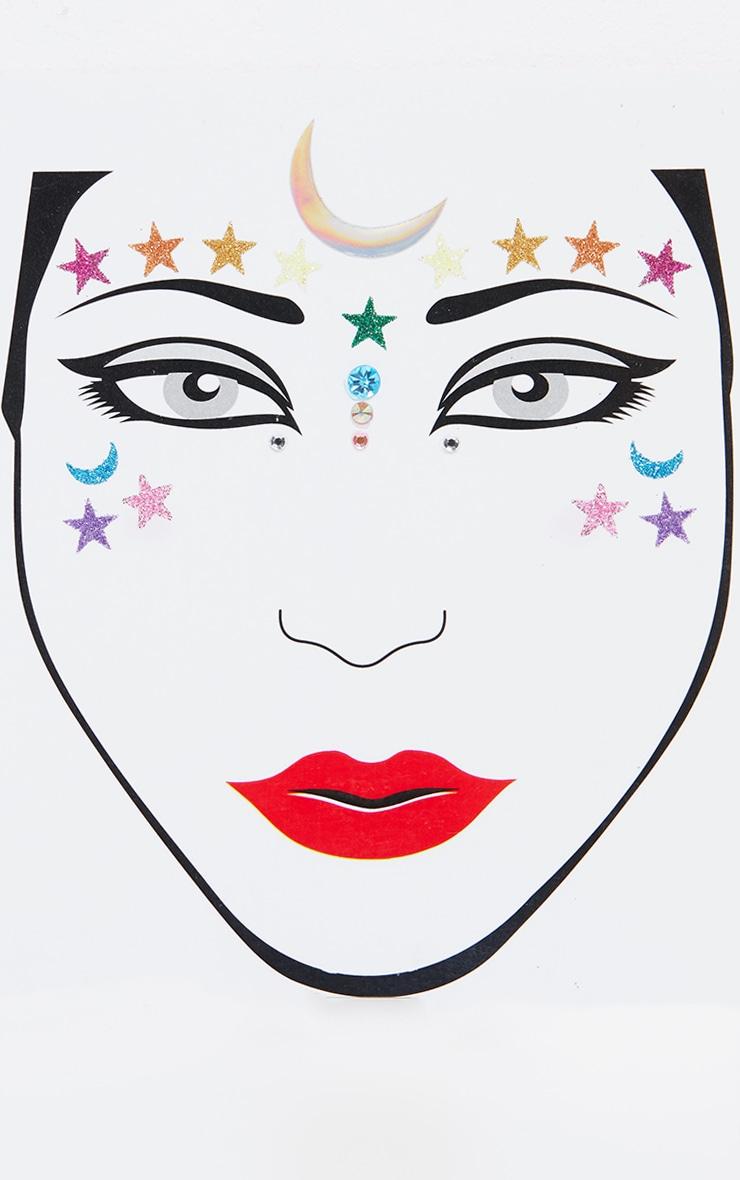 PRETTYLITTLETHING Midnight Rainbow Face Jewel 2