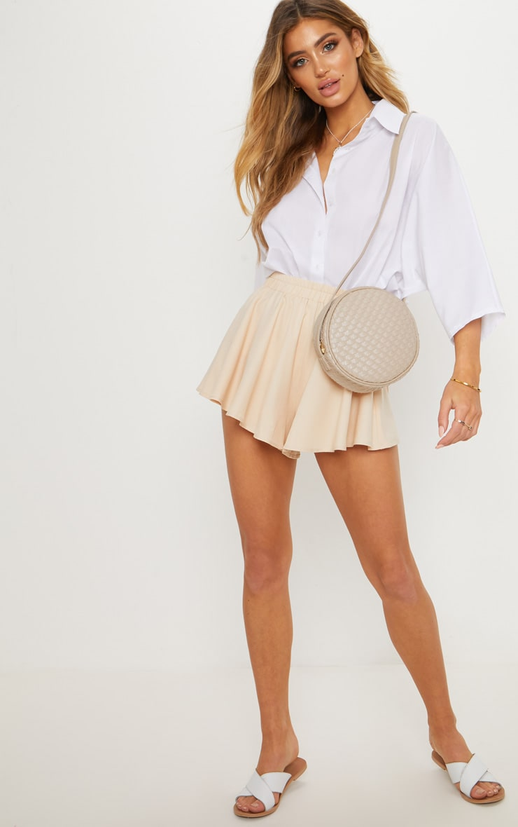 Cream Floaty Shorts 5
