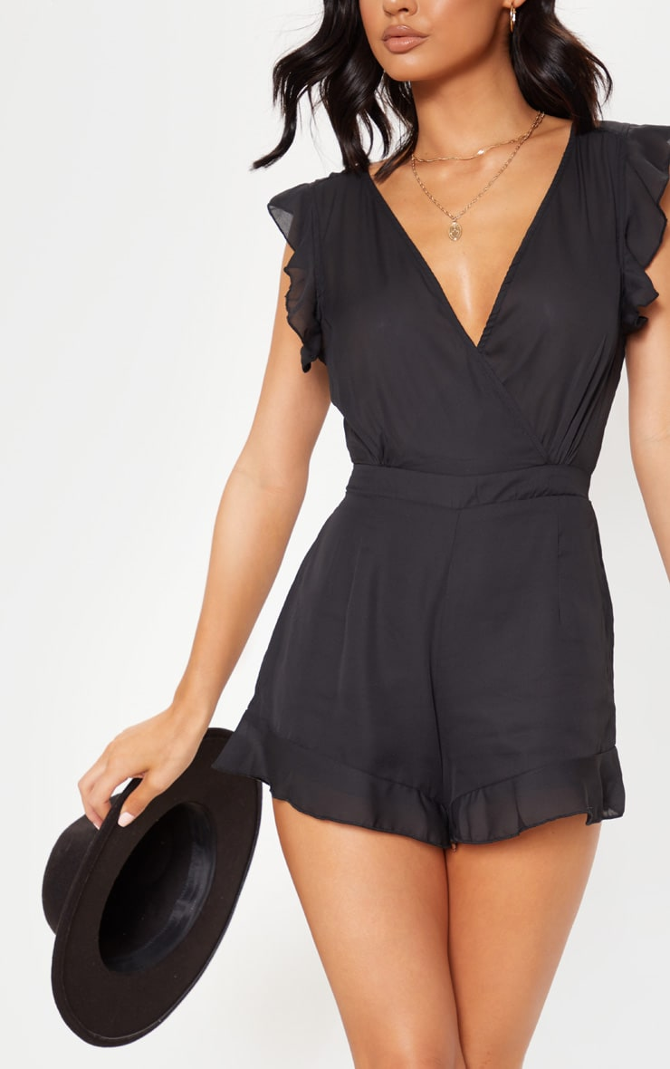 Black Tie Back Playsuit 5