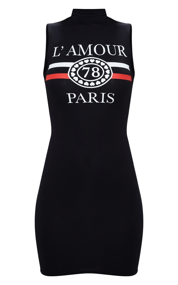 Black Lamour Sleeveless Bodycon Dress 2