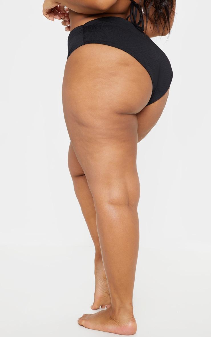 PLT Plus - Bas de bikini froncé noir 4