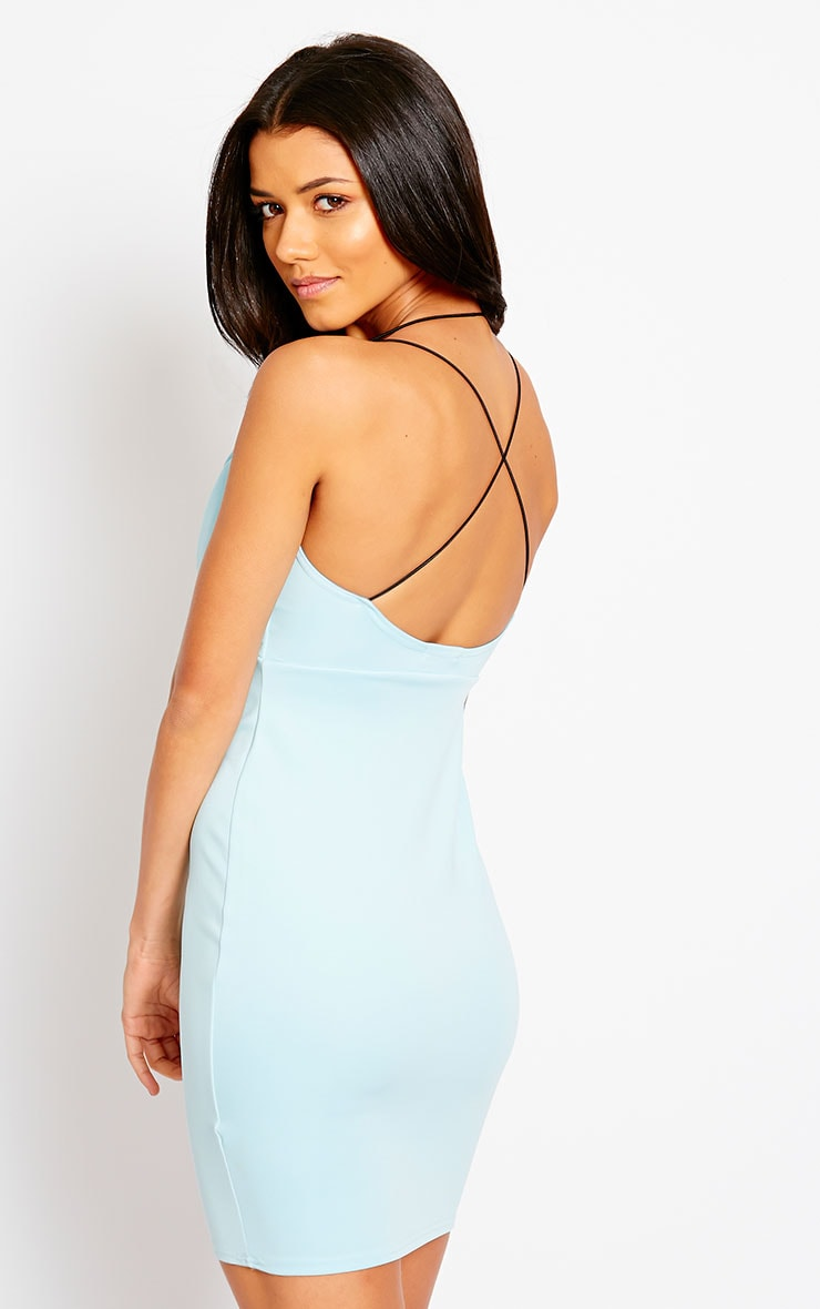 Gisele Powder Blue Plunge Dress 5