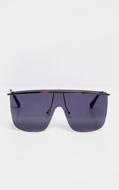 Black Tinted Silver Brow Bar Sunglasses