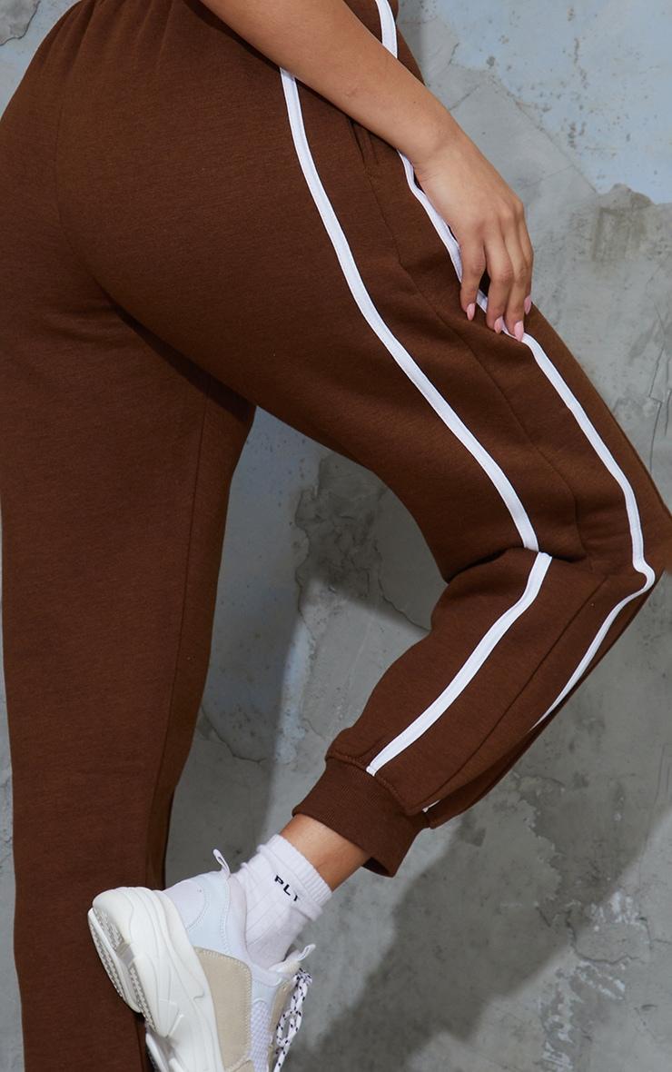 Chocolate Side Stripe Joggers 4