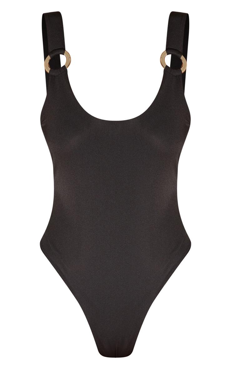 Tall Black Ring Detail Swimsuit 3