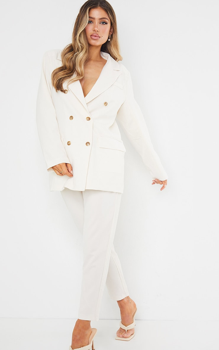Cream Tailored Trousers 2