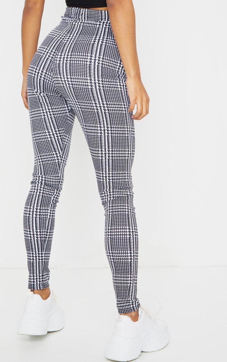 Monochrome Check Basic Leggings 3