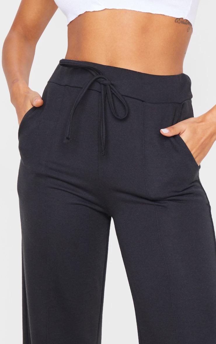 Black Wide Leg Track Pants 5