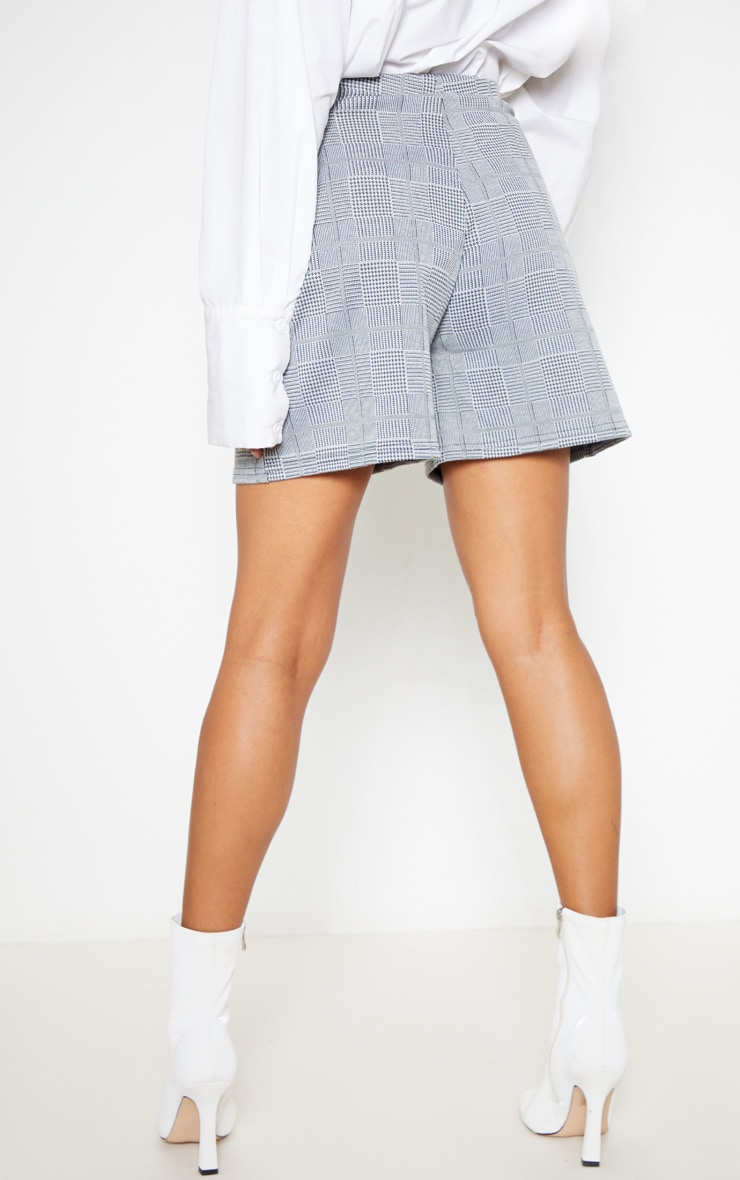 Grey Check Tailored Short 4