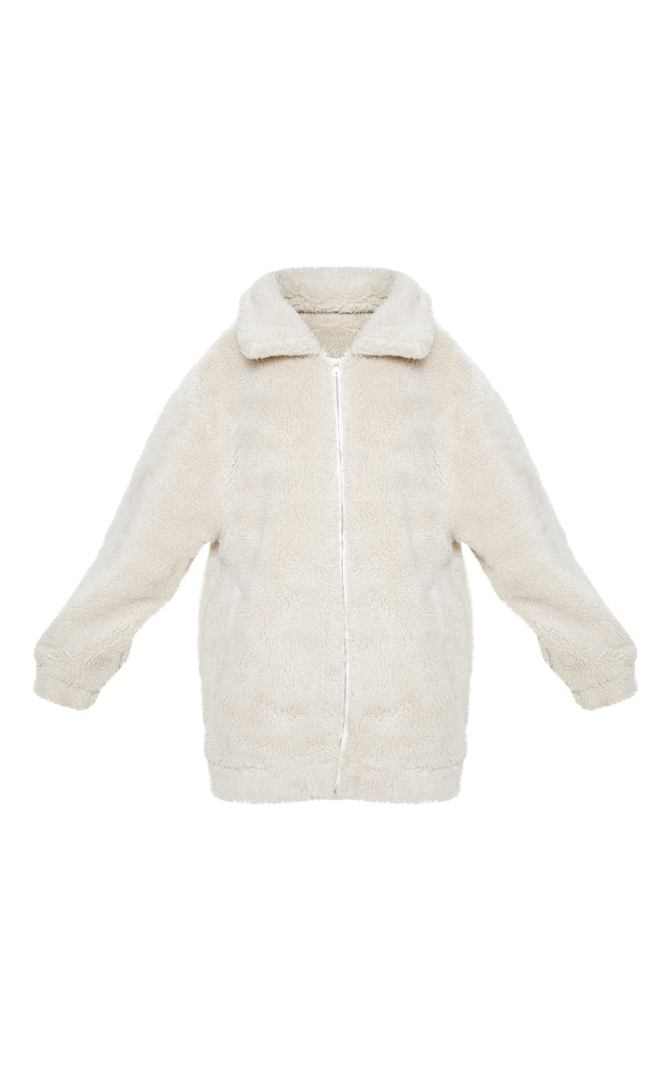 Plus Stone Teddy Bomber Coat 3