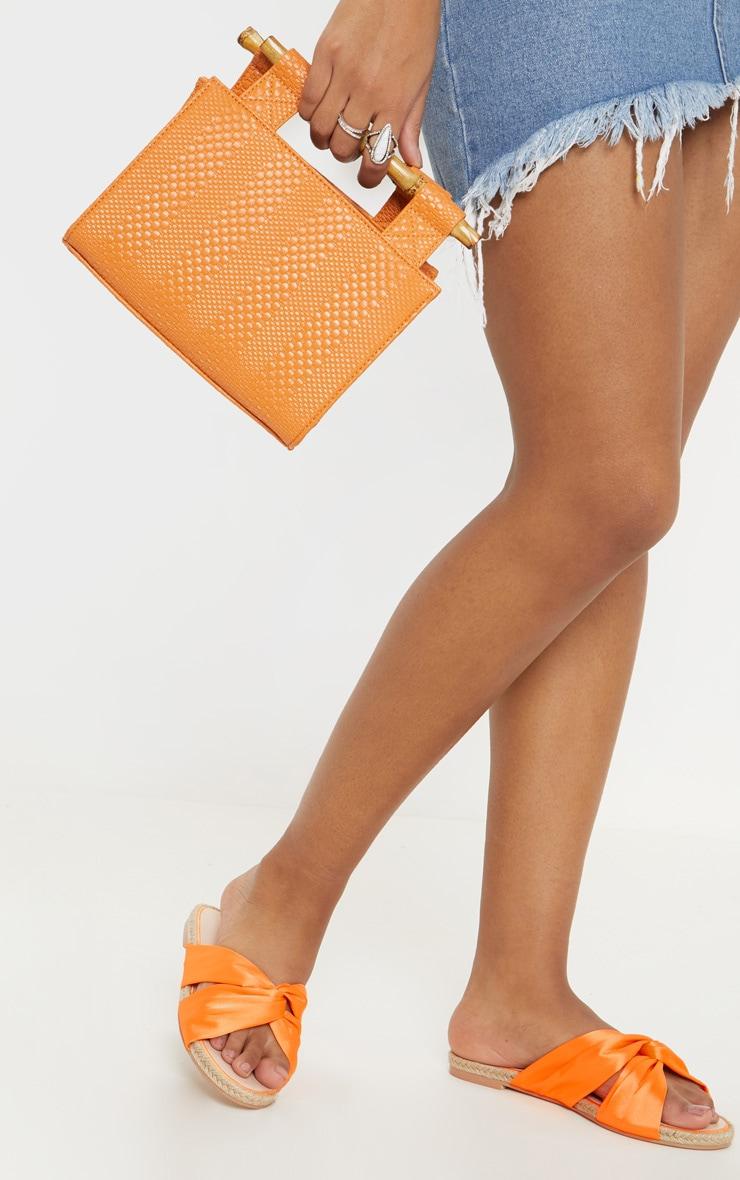 Style Espadrilles À Sandales Plates Noeud OrangeChaussures gf6yIvmYb7