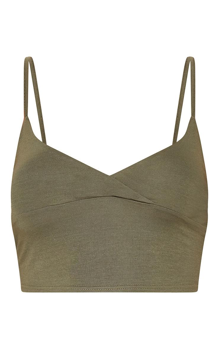 Basic Khaki Jersey Bralet 3