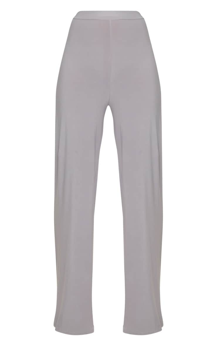 Ice Grey Slinky Wide Leg Pants  3