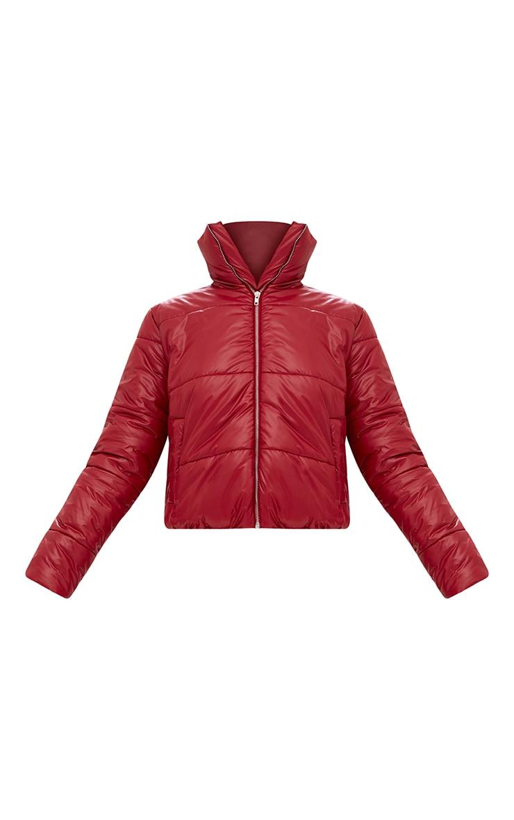 Burgundy Puffer Jacket 3