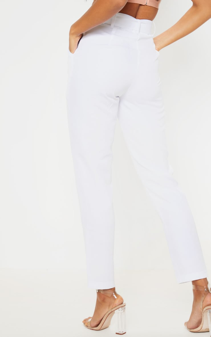 White Belted Tailored Trouser 4