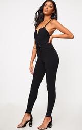df7412248f17 Black Crepe Corset Jumpsuit. Jumpsuits   Playsuits ...