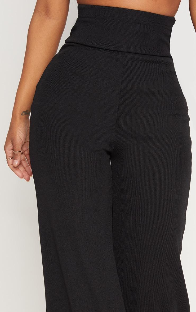 Shape Black Bandage Extreme High Waist Wide Leg Trousers 5