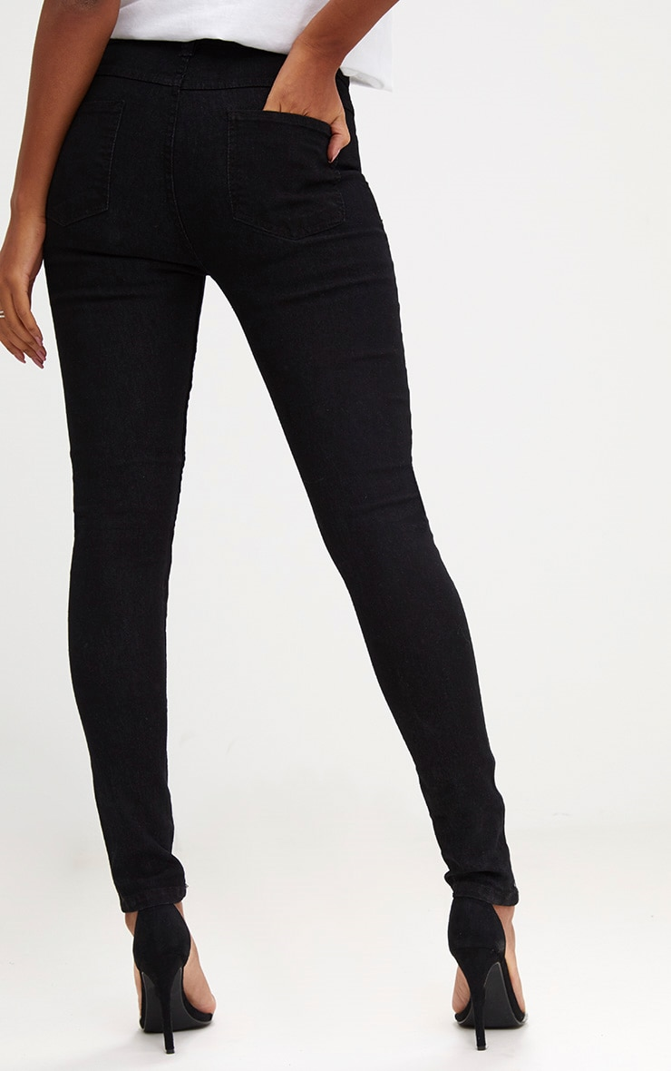 Black Knee Rip Disco Skinny Jean 4