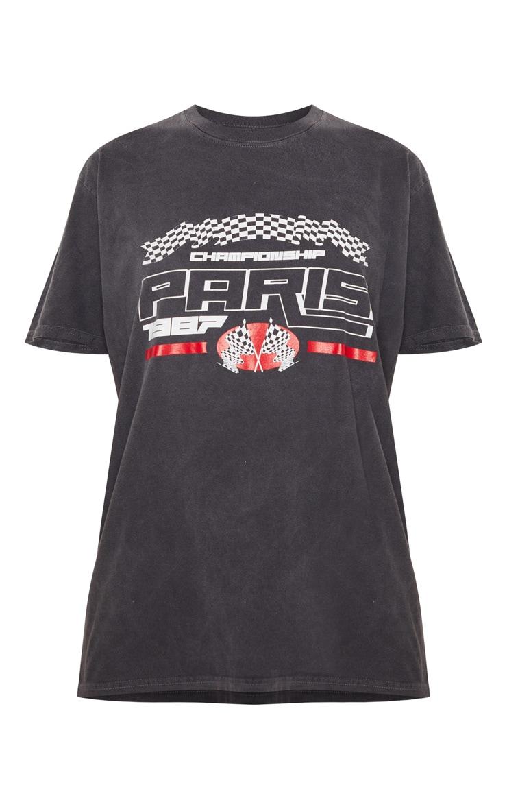 Black Paris 1987 Washed T Shirt 5