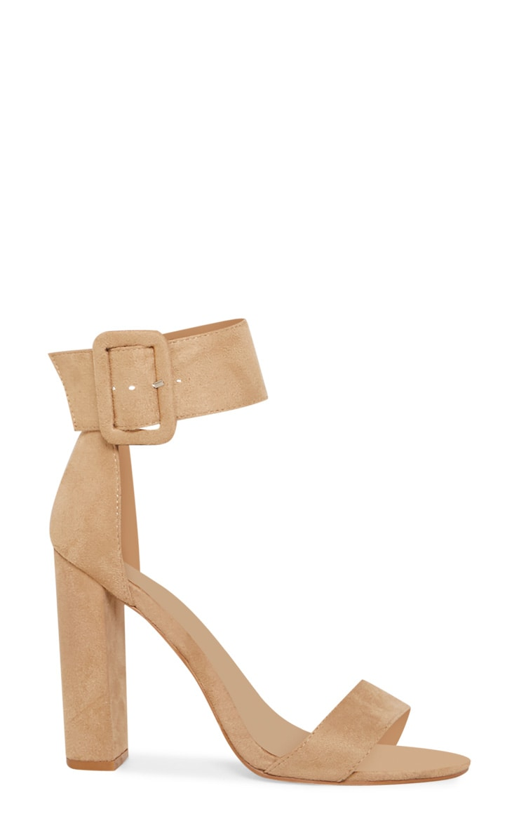 Nude Ankle Buckle Block Heel 3