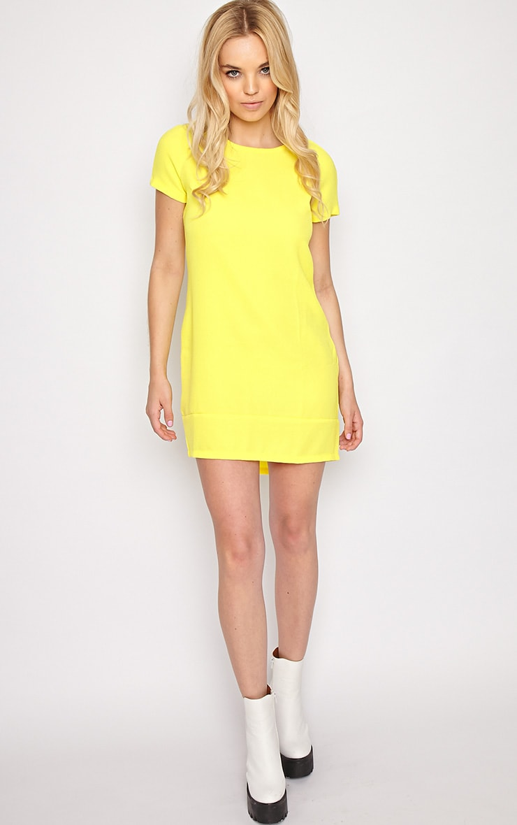 Gwyn Yellow Shift Dress 3