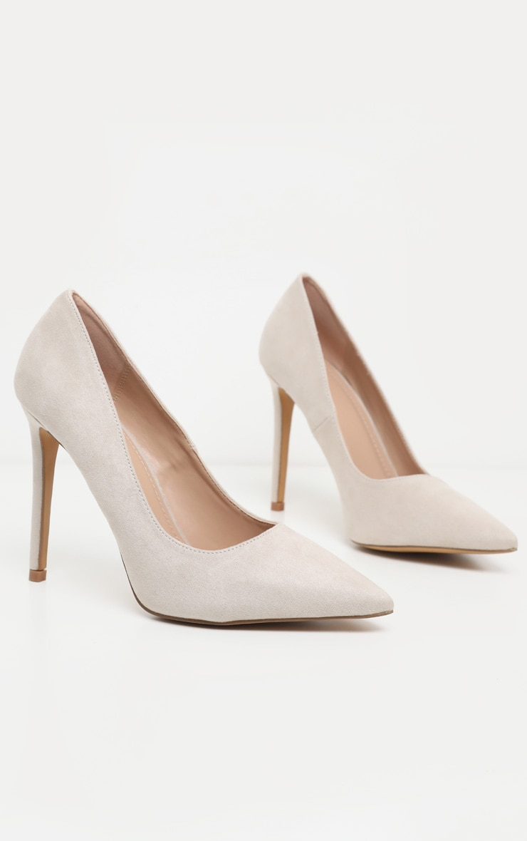 Nude Heeled Court Shoes 3