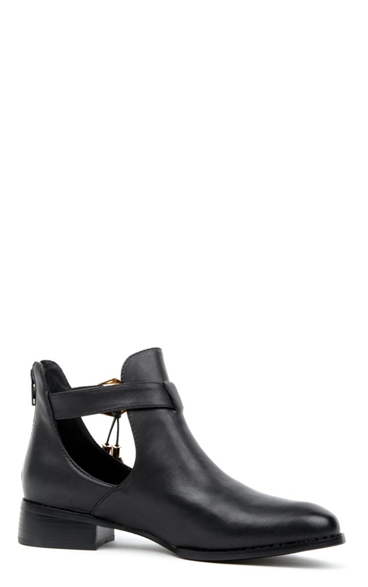Mariana Black Cut Out Tassel Boots 3