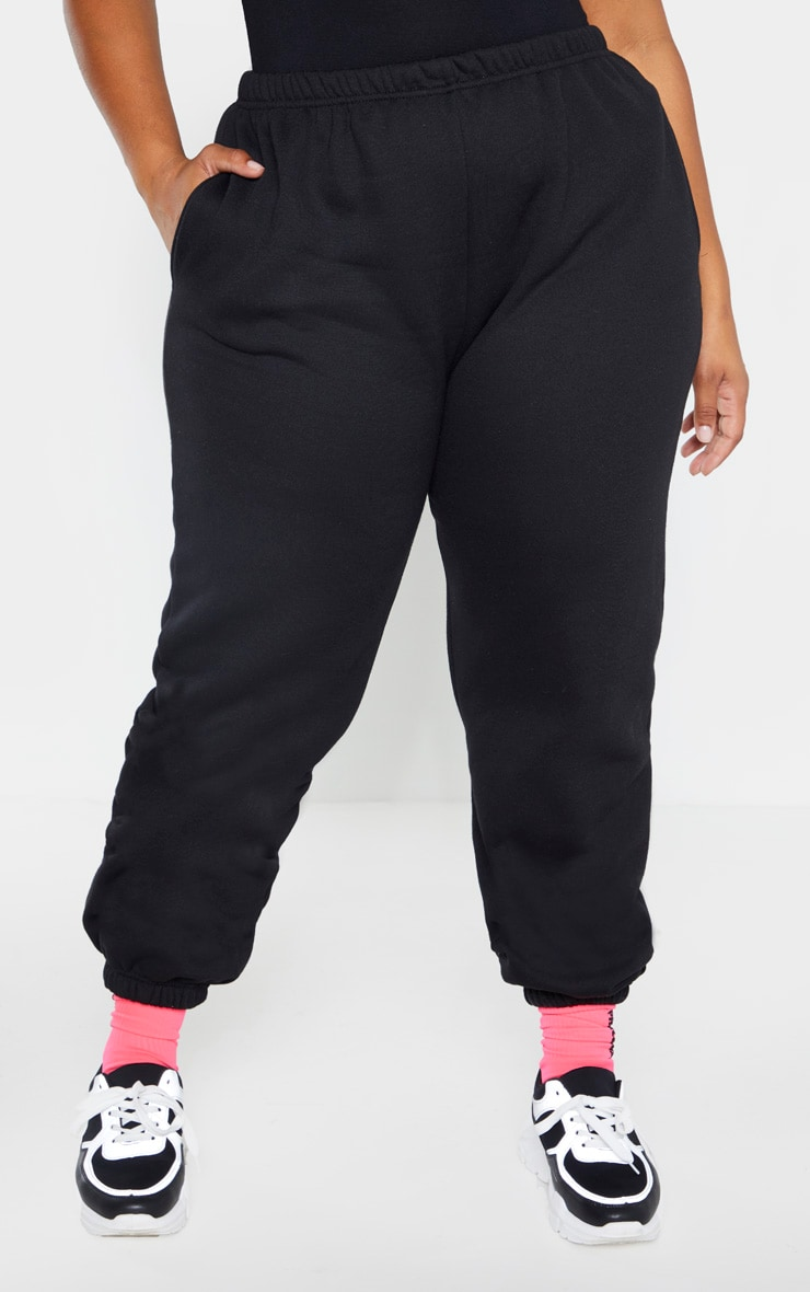 Plus Black Casual Jogger 2