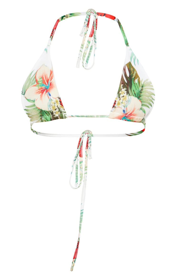 Multi Floral Triangle Bikini Top 3