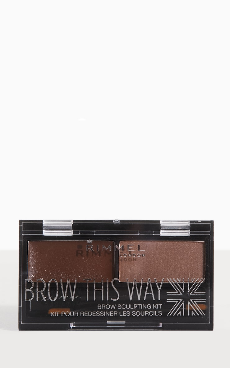 Rimmel Brow This Way Mid Brown Eyebrow Kit 1